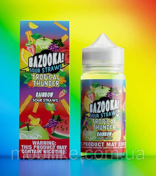 Жидкость для вейпа Bazooka Tropical Thunder Rainbow Sour Straws 100мл