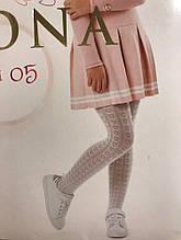 Детские колготки для девочки Mona Италия Odi 05 Белый весенняя осенняя демисезонная