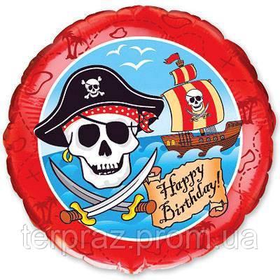 """Фольгированные шары с рисунком  18""""  пираты/fm"""