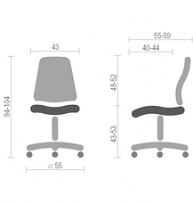 Детское кресло поворотное Фокс вайт OP (Fox white OP) Nowy Styl PL GTS OV, фото 3