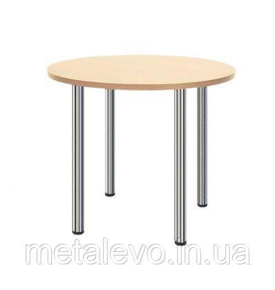 Металлическое хромированное основание для стола Кая (Kaja) Nowy Styl CH, фото 2