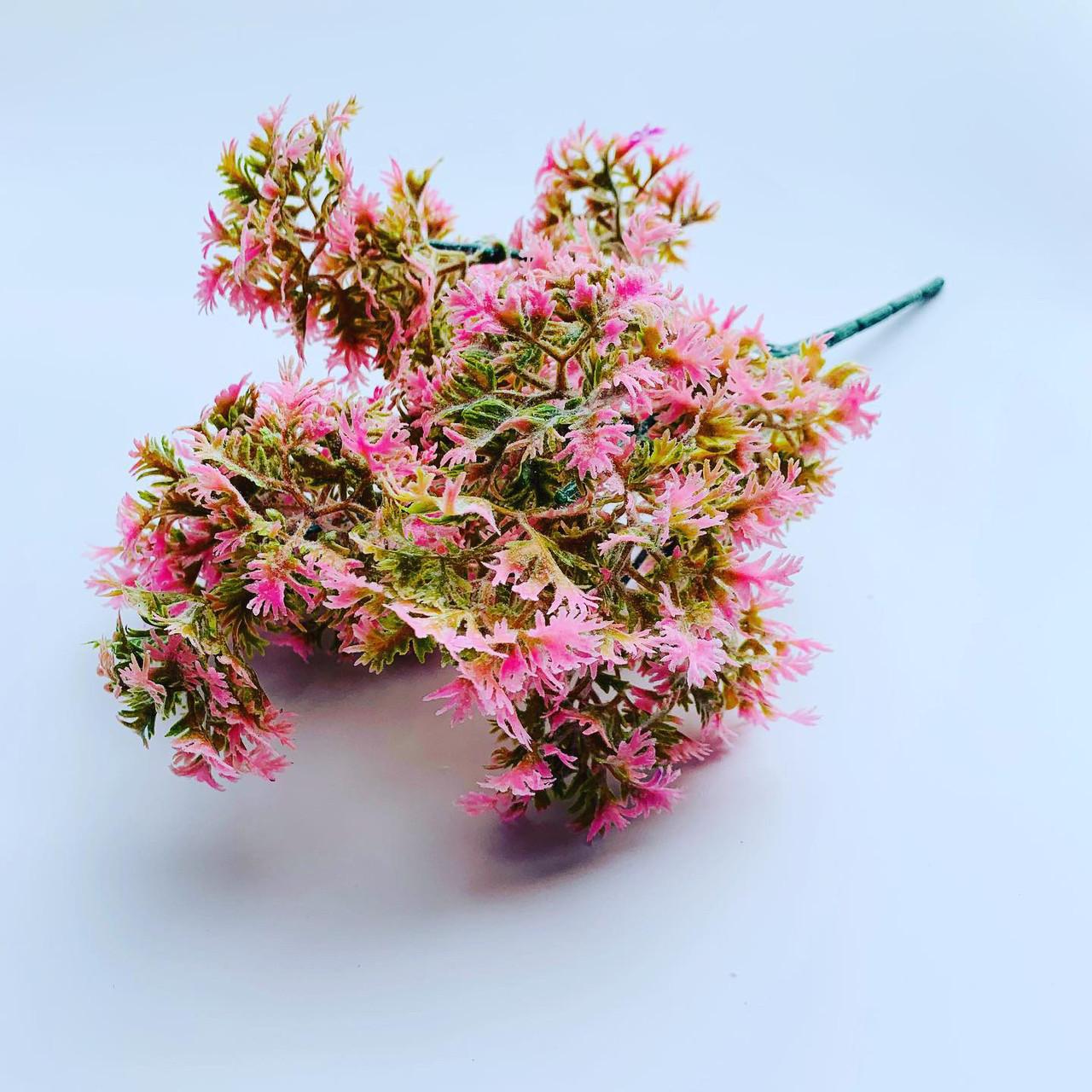 Искусственный пластиковый куст. Куст дополнитель (розовый)