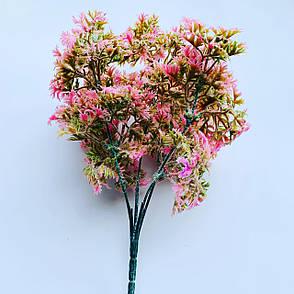 Искусственный пластиковый куст. Куст дополнитель (розовый), фото 2