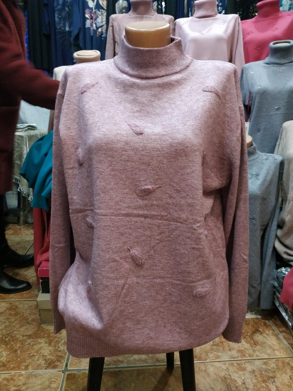 Светр sweater светр жіночий (Гольф) під горло 54-56 Busida