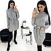 Сукня жіноча з куліскою по талії АА/-1290 - Сірий