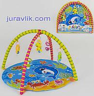 Детский коврик игровой развивающий  604-8 В Дельфинчик