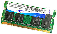 Оперативная память для ноутбука Adata SODIMM DDR2 2Gb 667MHz 5300s CL5 (AD2667002GOS) Б/У, фото 1