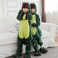 Детская пижама кигуруми Динозавр 120 см, фото 1