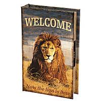 """Книга-сейф """"Царь зверей"""" 26х17х5 см с кодовым замком"""