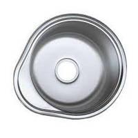 Мойка для кухни врезная нержавейка Platinum D4843P толщина 0,6 мм Глянцевая
