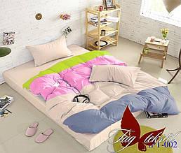 Комплект постельного белья евро Color mix APT002 ТМ TAG Evro, постельное белье Евро