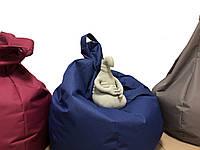 Мягкое кресло подушка груша мешок, размер XXL-120 см. Синий цвет