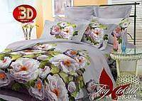 Комплект постельного белья евро BR002 ТМ TAG Evro, постельное белье Евро