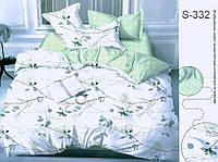 Комплект постельного белья евро с компаньоном S332 ТМ TAG Evro, постельное белье Евро