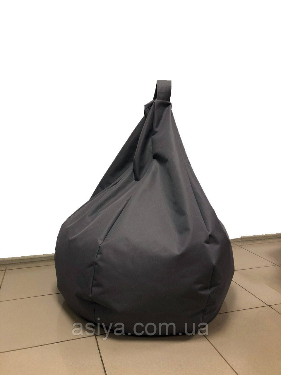 Мягкое кресло подушка груша мешок, размер XXL-120 см. Серый цвет