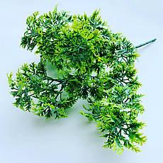 Искусственный пластиковый куст. Куст дополнитель ( зелёный), фото 2