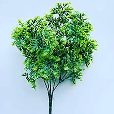 Искусственный пластиковый куст. Куст дополнитель ( зелёный), фото 3