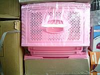 Комод пластиковый на 4 ящика розовый