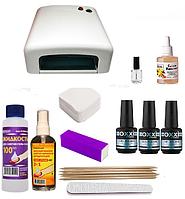 Стартовый набор Oxxi Professional для покрытия гель-лаком + Лампа Sun One 48 w