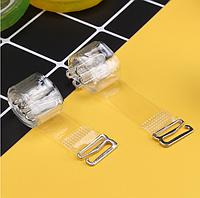 Силиконовые прозрачные бретели для бюстгальтера с металлическими застежками
