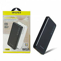 Моб. Зарядка POWER BANK AWEI P28K 10000 mah, Внешний аккумулятор павер банк, Портативное зарядное устройство