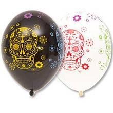 """Латексный шар с рисунком хэллоуин с черепом (день мертвых) 12 """"Belbal"""