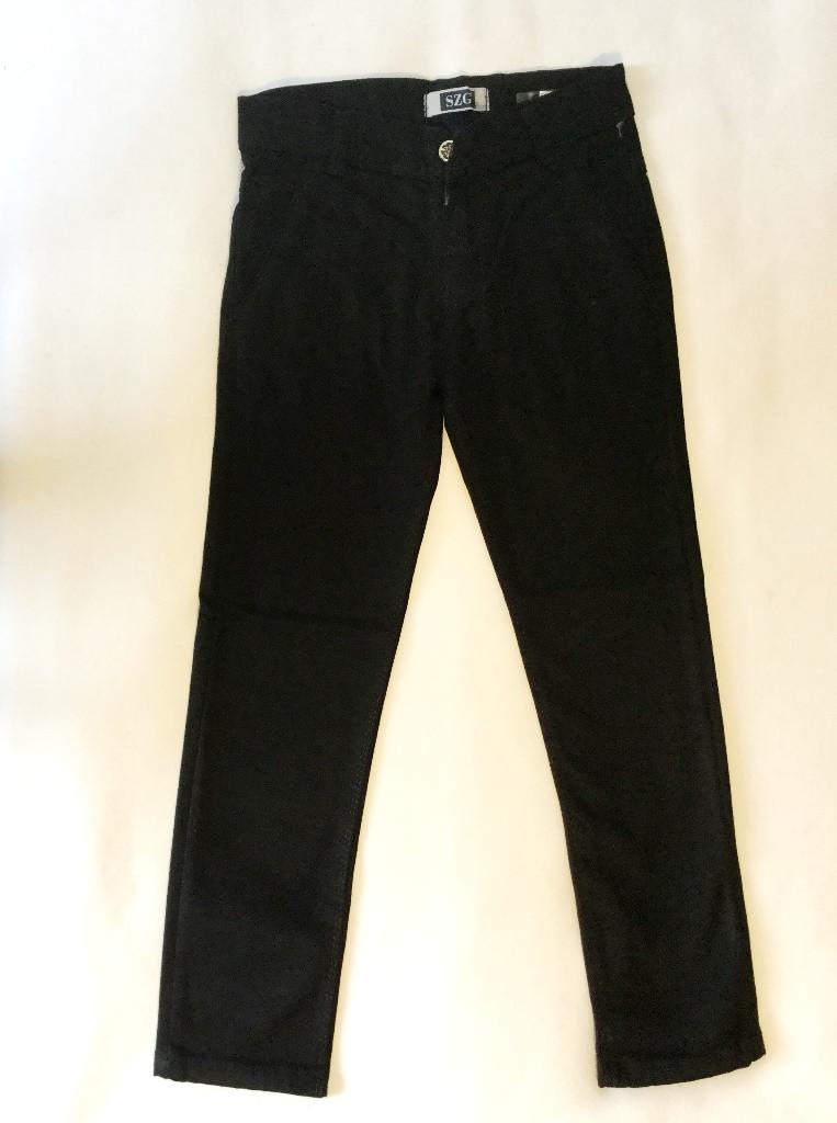 Тёплые брюки джинсы на 9-12 лет чёрного цвета