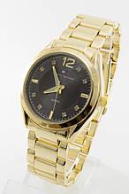 Женские наручные часы Tomy Hiifiger золото с чёрным циферблатом, в стиле Томми Хилфигер