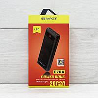 Мобильная зарядка POWER BANK AWEI P70K, Внешний аккумулятор, Внешняя зарядка, Дополнительная зарядка