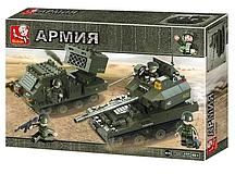 "Конструктор Sluban M38-B0288 ""Танковый корпус"" 403 детали арт."