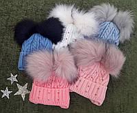 Шапочка детская зимняя на завязках, флис, р. 1-2 года, микс цветов, фото 1