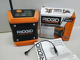 Cтроительное радио Ridgid R84086 18V с bluetooth, USB, AUX