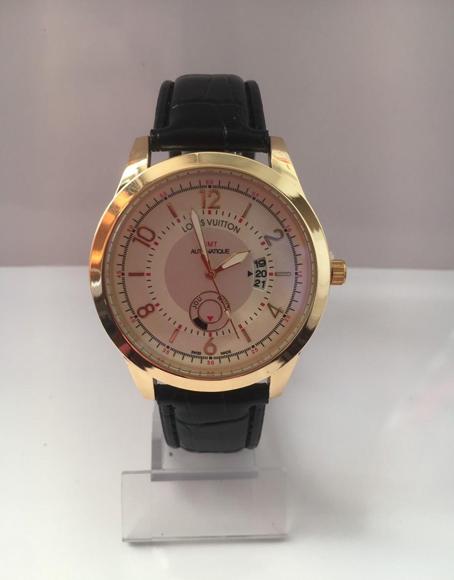 Чоловічий наручний годинник Louis Vuitton (Луї Віттон), золотисто-білий колір ( код: IBW180YO )