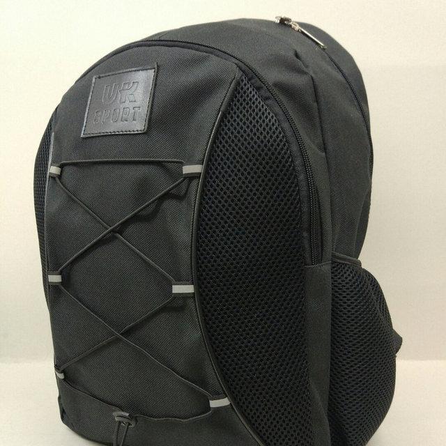 Чорний спортивний рюкзак з шнурками UKsport, Укспорт чорний ( код: IBR091B )