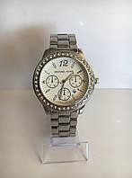 Женские наручные часы Mісhаеl Коrs (в стиле Майкл Корс), серебристо-белый цвет