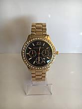 Женские наручные часы Mісhаеl Коrs (в стиле Майкл Корс), золотисто-черный цвет