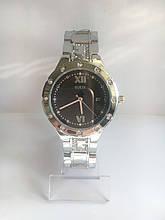Женские наручные часы Guess (Гесс), серебристо-черный цвет