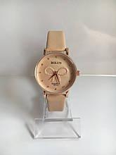 Женские наручные часы Bolun (Болун), золотисто-бежевый цвет