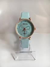 Женские наручные часы Bolun (Болун), золотисто-голубой цвет