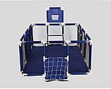 Манеж детский большой игровой IMBABY 128 х 128 х 66 см, фото 2