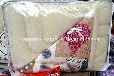 Зимнее одеяло полуторное с открытым мехом