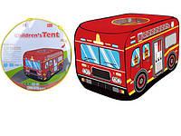 """Детский домик палатка """"Пожарный автомобиль"""" (длина 110 см)"""