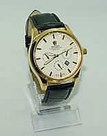 Мужские наручные часы Rolex (Ролекс), золото с белым циферблатом