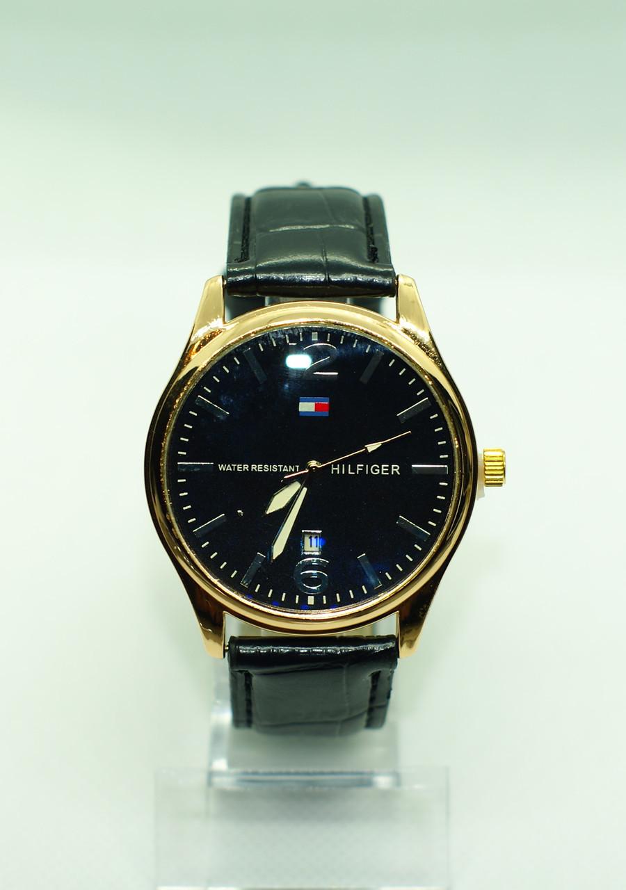 Чоловічі наручні годинники Tomy Hiifiger (Томмі Хілфігер), чорні з золотом ( код: IBW234YB )
