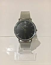 Женские наручные часы Daniel Wellington (Даниэль Веллингтон), серебристо-черный цвет
