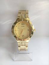 Женские наручные часы Guess (Гесс), золотисто-желтый цвет