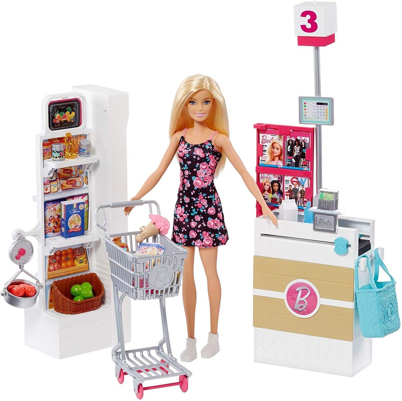Большой набор Кукла Барби в супермаркете  Barbie Supermarket