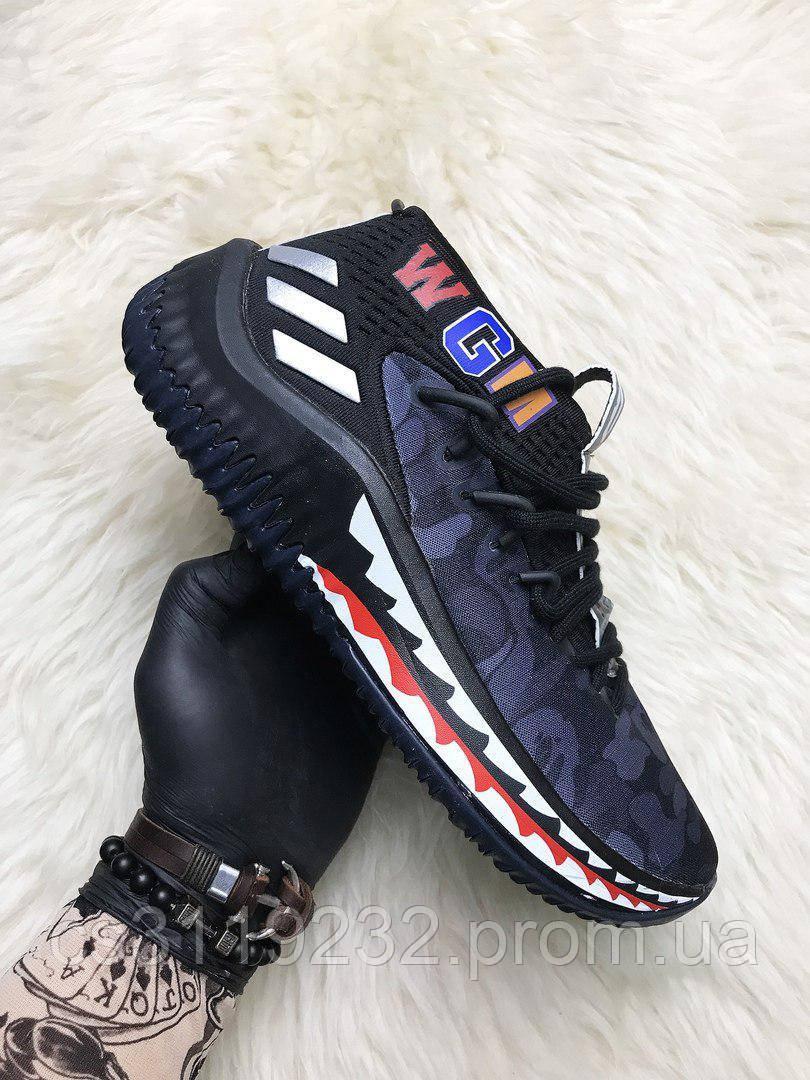 Мужские кроссовки  Bape X Adidas Dame (черные)
