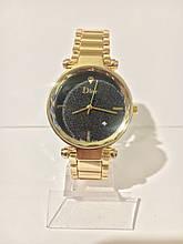 Женские наручные часы Dіоr (Диор), золотисто-черный цвет
