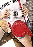 Жіноча кругла сумка, червона ( код: IBG030R ), фото 2